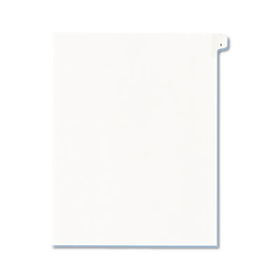 Allstate-Style Legal Side Tab Divider, Title: 1, Letter, White,