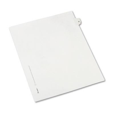 Allstate-Style Legal Side Tab Divider, Title: 22, Letter, White,