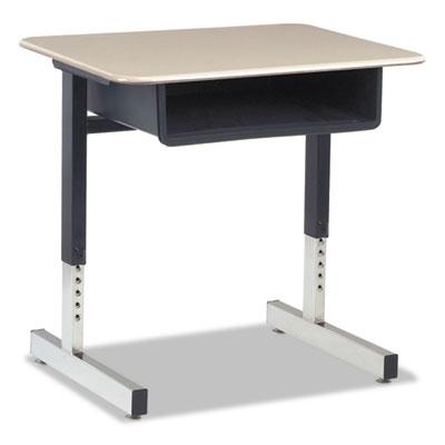 Cantilever-Legged Student Desk, 26w x 20d x 30h, Sandstone, 2/Ca