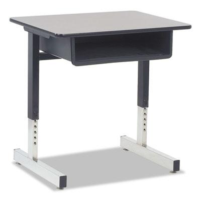 Cantilever-Legged Student Desk, 26w x 20d x 30h, Gray Nebula, 2/