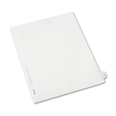 Allstate-Style Legal Side Tab Divider, Title: 27, Letter, White,