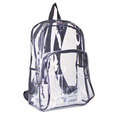Backpack, PVC Plastic, 12 1/2 x 17 1/2 x 5 1/2, Clear