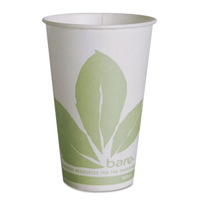 Bare Eco-Forward Treated Paper Cold Cups, 12 oz, Bare Theme, Gre