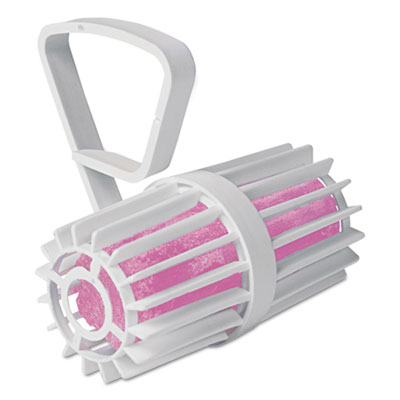 Toilet Rim Cage with Non-Para Block, White/Pink, Cherry, 12 per