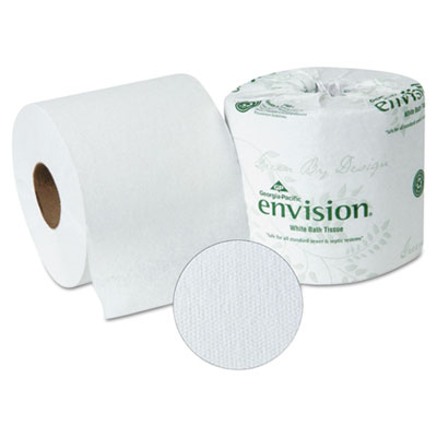 Envision Bathroom Tissue, 1-Ply, White, 1210 Sheets/Roll, 80 Rol