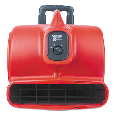 Commercial Three-Speed Air Mover with Built-on Dolly, 5.0 Amp, R