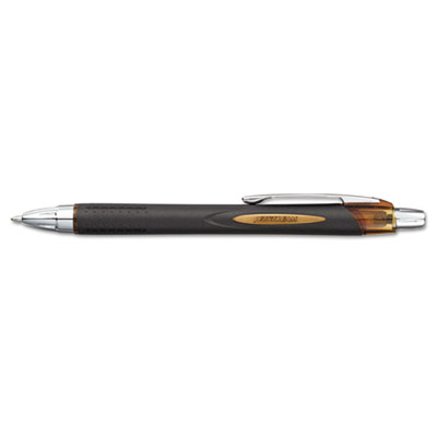 Jetstream RT Roller Ball Retractable Pen, 1.0 mm, Brown/Black