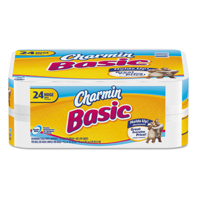 Basic Big Roll, One-Ply, White, 264 Sheets/Roll, 24 Rolls/Carton