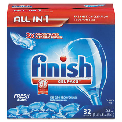 Dish Detergent Gelpacs, Fresh Scent, Box of 32 Gelpacs