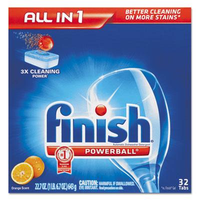 Powerball Dishwasher Tabs, Orange Scent, 32/Box