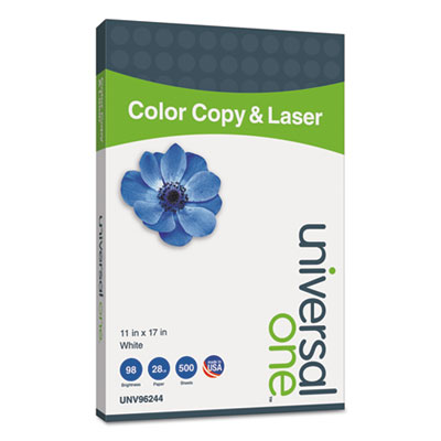 Copier/Laser Paper, 98 Brightness, 28lb, 11 x 17, White, 500 She