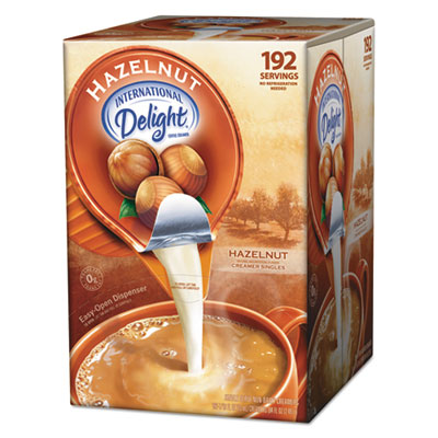 Flavored Liquid Non-Dairy Coffee Creamer, Hazelnut, .44 oz Cups,