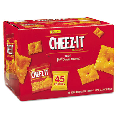 Cheez-it Crackers, 1.5 oz Pack, 45 Packs/Box