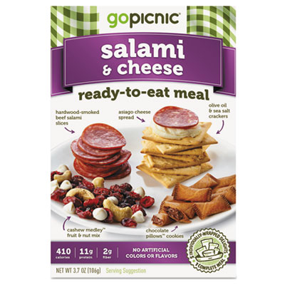 Ready-To-Eat-Meals, Salami + Cheese, 3.5oz, 6/Carton
