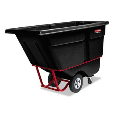 Rotomolded Tilt Truck, Rectangular, Plastic, 1/2 cu yd., 850-lb