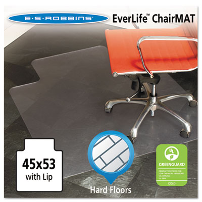45x53 Lip Chair Mat, Multi-Task Series for Hard Floors, Heavier