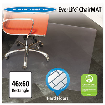 46x60 Rectangle Chair Mat, Multi-Task Series for Hard Floors, He
