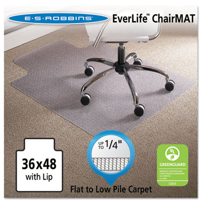 36 x 48 Lip Chair Mat, Task Series AnchorBar for Carpet up to 1/