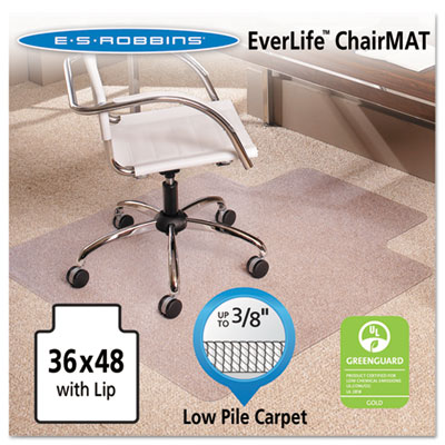 36x48 Lip Chair Mat, Multi-Task Series AnchorBar for Carpet up t