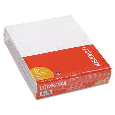 Scratch Pads, Unruled, 5 x 8, White, 12 100-Sheet Pads/Pack