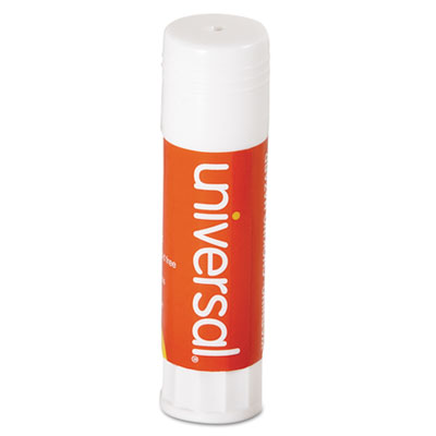 Permanent Glue Stick, .74 oz, Stick, Clear, 12/Pack