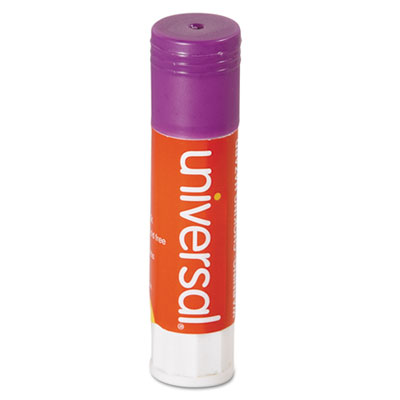 Permanent Glue Stick, .28 oz, Stick, Purple, 30/Pack