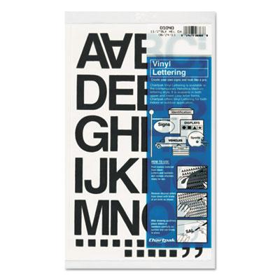 """Press-On Vinyl Letters & Numbers, Self Adhesive, Black, 1 1/2""""h,"""