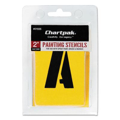 Painting Stencil Set, A-Z Set/0-9, Manila, 35/Set