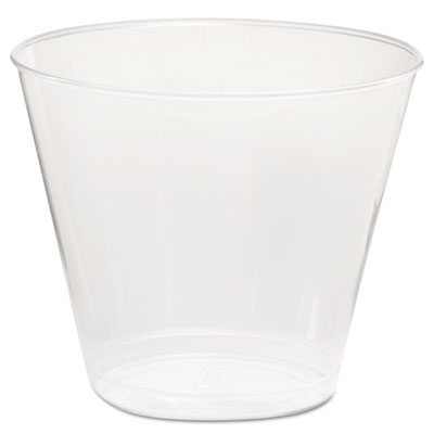 Comet Plastic Tumbler, 5 oz., Clear, Squat, 50/Pack