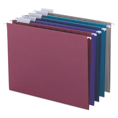 Designer Assortment Hanging Folders, 1/5 Tab, 11 Point Stock, Le