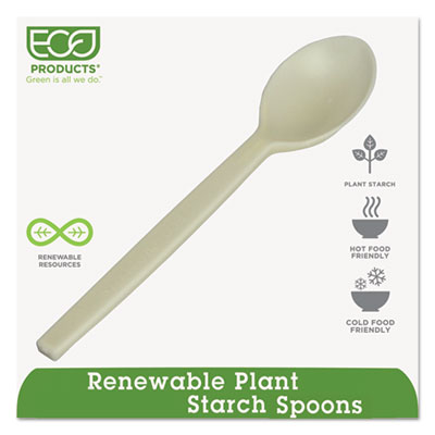 Plant Starch Teaspoon, Cream, 50/Pack