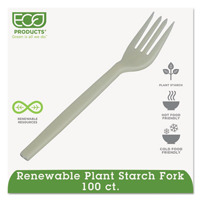Plant Starch Fork, Cream, 50/Pack