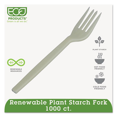 Plant Starch Fork, Cream, 1000/Carton