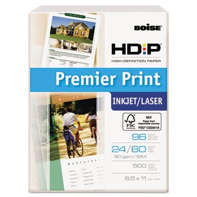 HD:P Premier Print Copy Paper, 96 Brightness, 24lb, 8-1/2x11, Wh