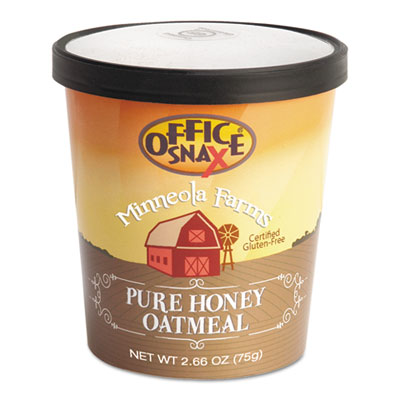 Minneloa Farms Oatmeal, Pure Honey, 2.66oz Bowl, 24/Carton