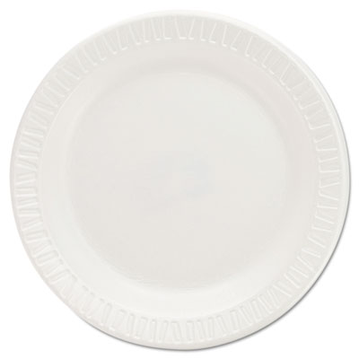 Foam Plastic Plates, 6 Inches, White, Round, 125/Pack