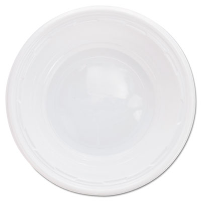 Plastic Bowls, 5-6 Ounces, White, Round, 125/Pack