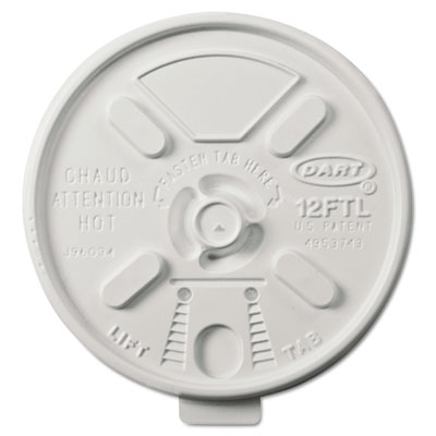 Vented Foam Lids for 10-14 oz Foam Cups, Lift n' Lock Lid