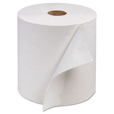 Advanced Hand Roll Towel, One-Ply, White, 7 9/10 x 800'