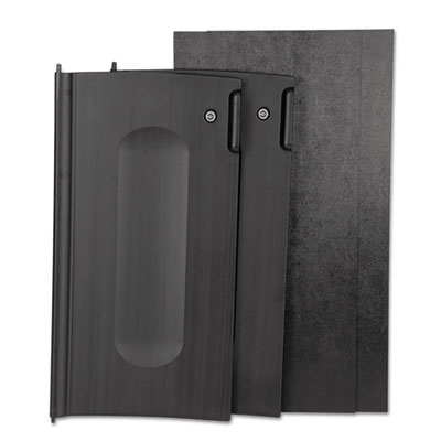 Locking Cabinet Door Kit, For Use With RCP Cleaning Carts, Black