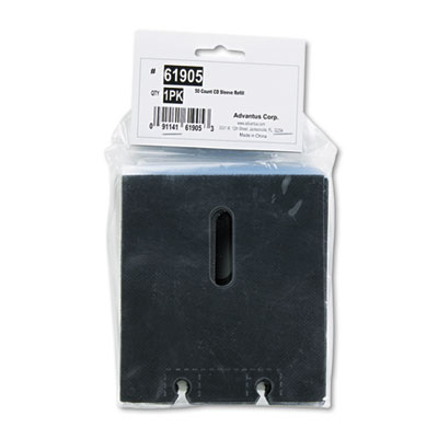 Refill Sleeves for Media Filer, 50/Pack