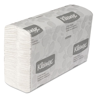 KLEENEX C-Fold Paper Towels, 10 1/8 x 13 3/20, White, 150/Pack,