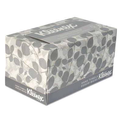 KLEENEX Hand Towels, POP-UP Box, Cloth, 9 x 10 1/2, 120/Box