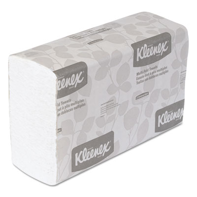 KLEENEX Multifold Paper Towels, 9 1/5 x 9 2/5, White, 150/Pack,