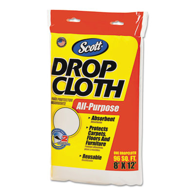 Scott Absorbent Dropcloths, 8 x 12, White, 6/Carton