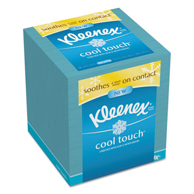 Cool Touch Facial Tissue, 3-Ply, 50 Sheets per Box, 27/Carton