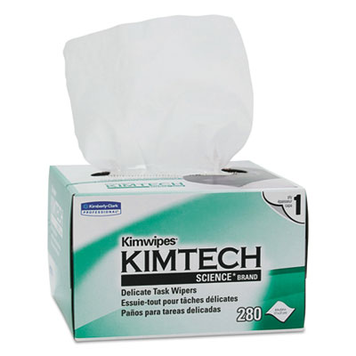 KIMTECH SCIENCE KIMWIPES, Tissue, 4 2/5 x 8 2/5, 280/Box, 30 Box