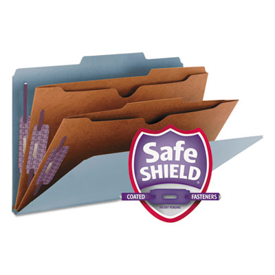 Pressboard Folders with Two Pocket Dividers, Legal, Six-Section,