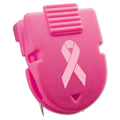 Breast Cancer Awareness Wall Clips for Fabric Panels, Pink, 10/B