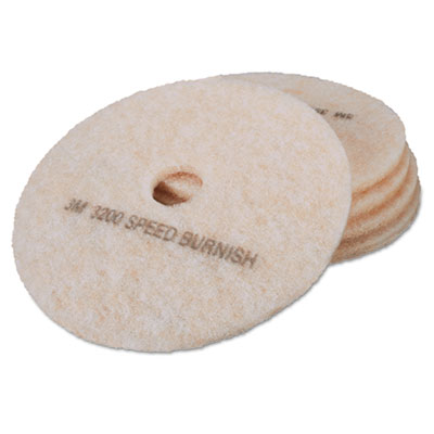 Ultra High-Speed TopLine Floor Burnishing Pads 3200, 20-Inch, Wh